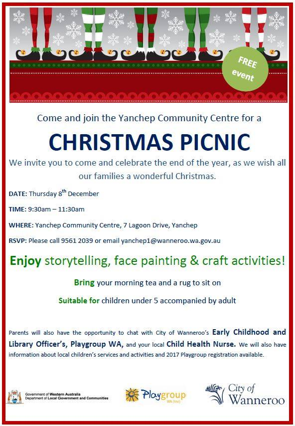 Free Yanchep Christmas Picnic Event 2016