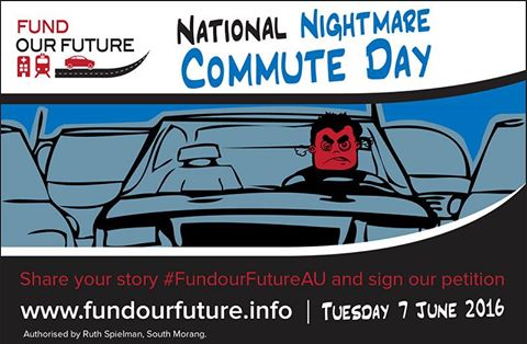 National Nightmare Commute Day 2016 promoted by Fund Our Future