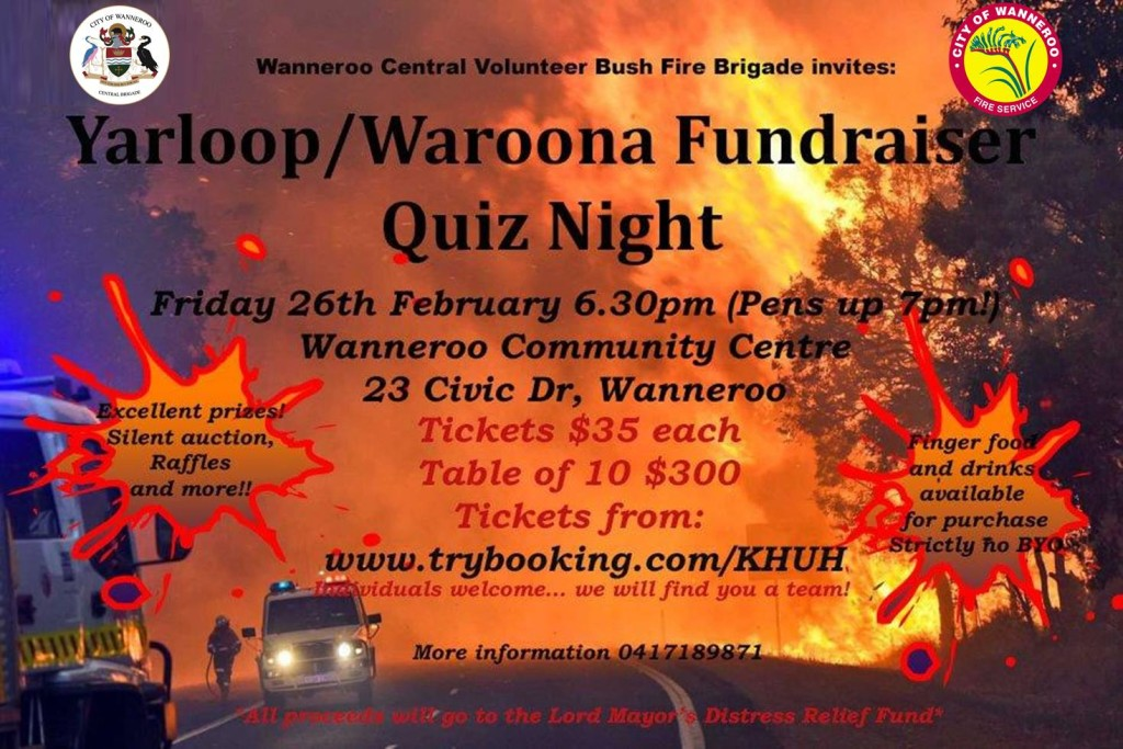 Yarloop Waroona Quiz Night 2016